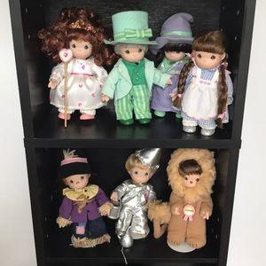 Precious Moments Porcelain Wizard of Oz dolls
